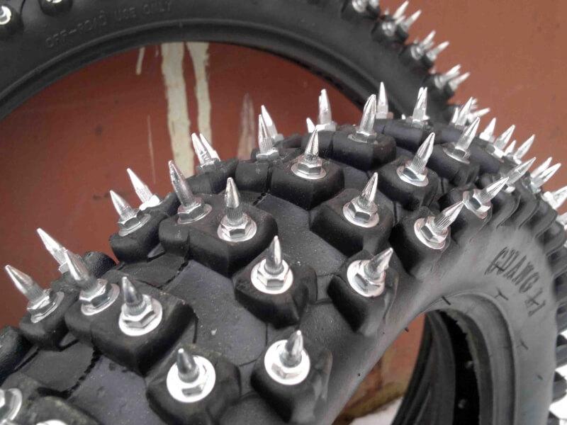 Шипы для мотоциклов своими руками 3